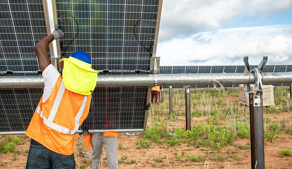 The making of a solar site