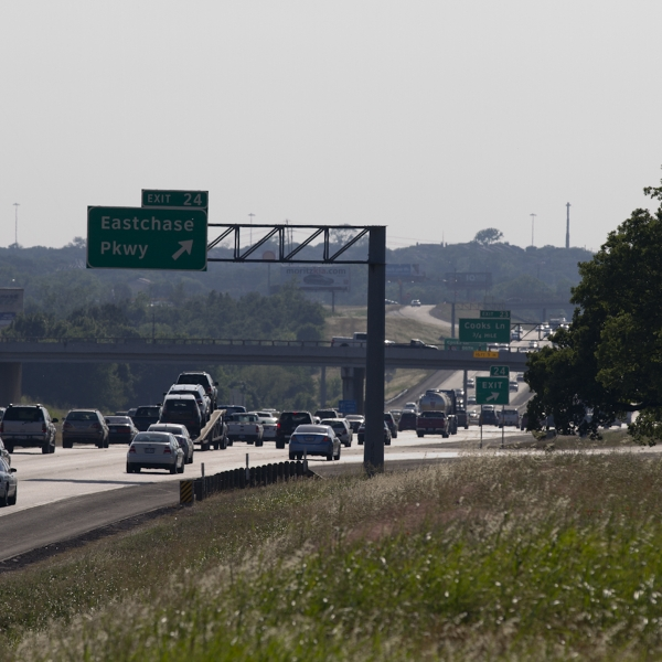 Traffic on Interstate Highway