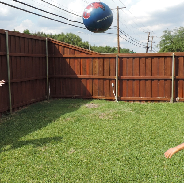 Tossing a ball