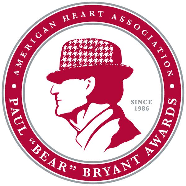 "American Heart Associations Paul ""Bear"" Bryant Heart of a Champion Award logo"