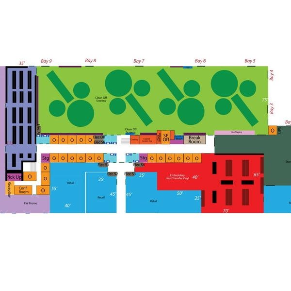 Layout of new building