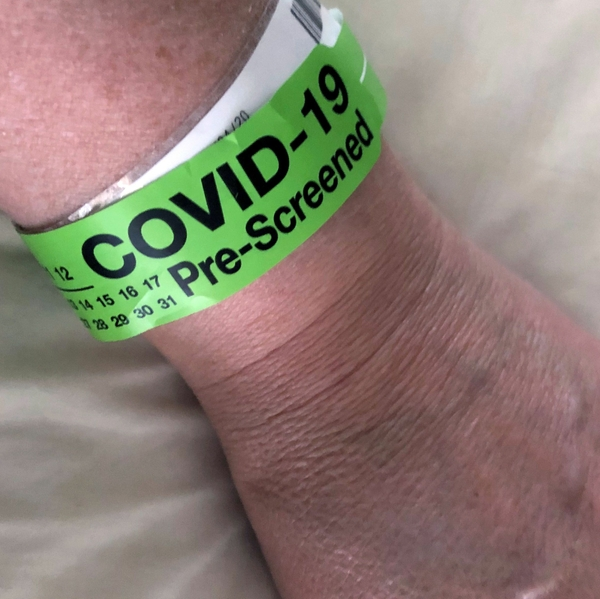 COVID-19 ER pre-screening band