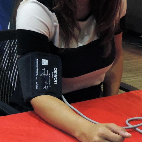 Blood pressure manual check - woman
