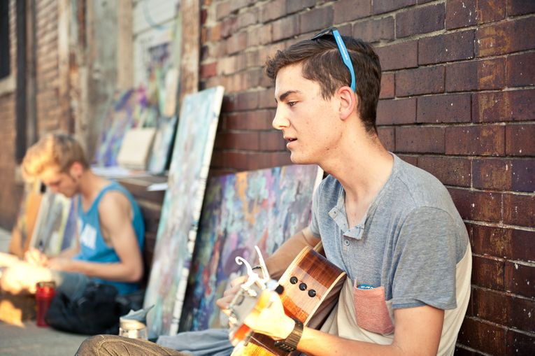 First Friday Street Musician