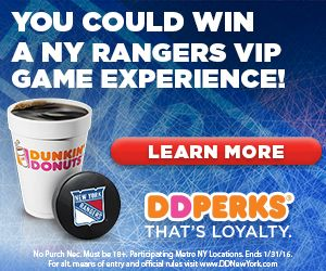 Dunkin' Donuts Partners with Madison Square Garden!