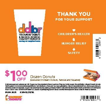 THE DUNKIN' DONUTS & BASKIN-ROBBINS COMMUNITY FOUNDATION  ANNOUNCES RETURN OF THE NATIONAL COMMUNITY CUPS® PROGRAM