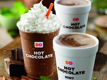HOT CHOCOLATE HAPPINESS IN A COOL NEW WAY: DUNKIN' DONUTS' HOT CHOCOLATES NOW SERVED FROZEN