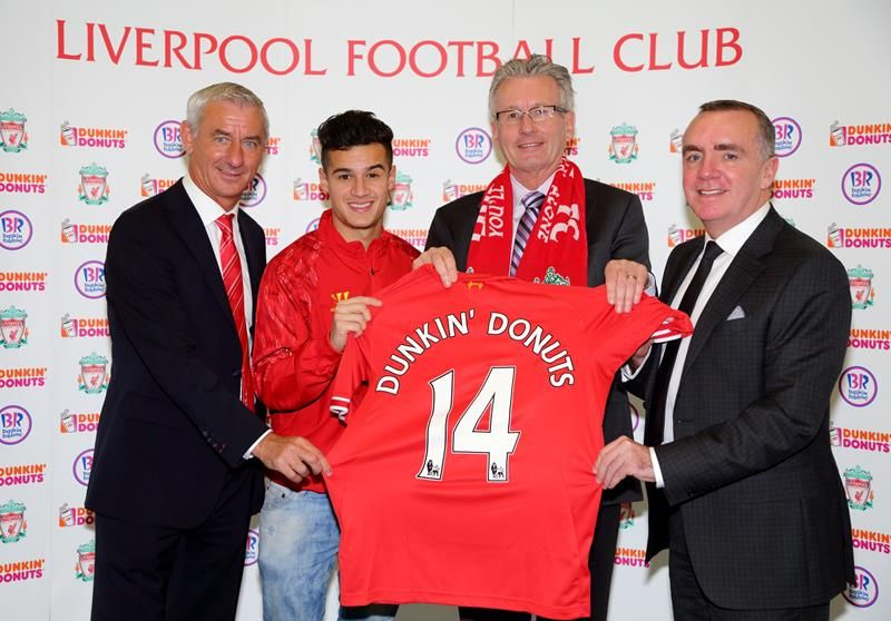 Pictured: Ian Rush, Philippe Coutinho, Nigel Travis, Ian Ayre