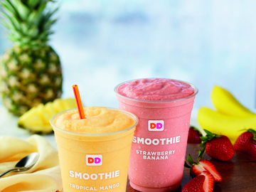 SUMMER BRINGS NEW FRUIT SMOOTHIES TO DUNKIN' DONUTS