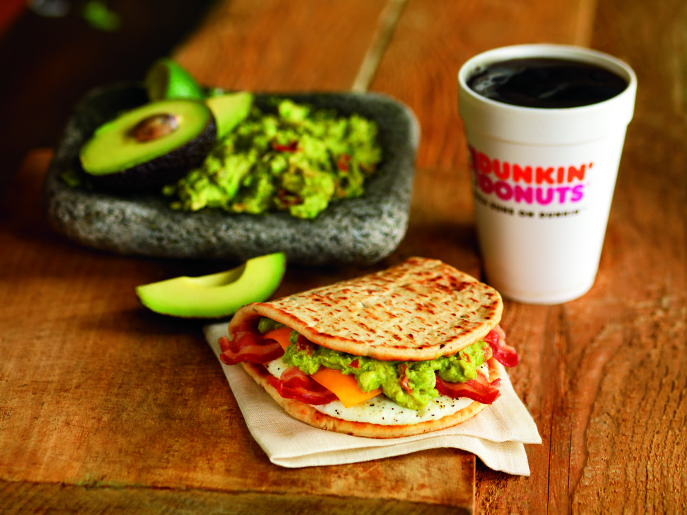 DUNKIN' DONUTS BRINGS GUACAMOLE TO BREAKFAST  WITH NEW BACON GUACAMOLE FLATBREAD SANDWICH
