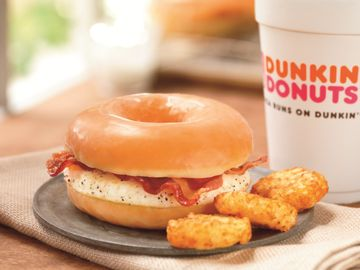 DUNKIN' DONUTS CELEBRATES NATIONAL DONUT DAY WITH FREE DONUT OFFER AND THE LAUNCH OF THE GLAZED DONUT BREAKFAST SANDWICH