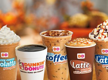 PUMPED FOR PUMPKIN AT DUNKIN': PUMPKIN MENU IS BACK AT DUNKIN' DONUTS