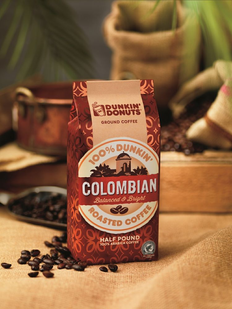 DUNKIN' DONUTS INTRODUCES NEW COLOMBIAN PACKAGED COFFEE