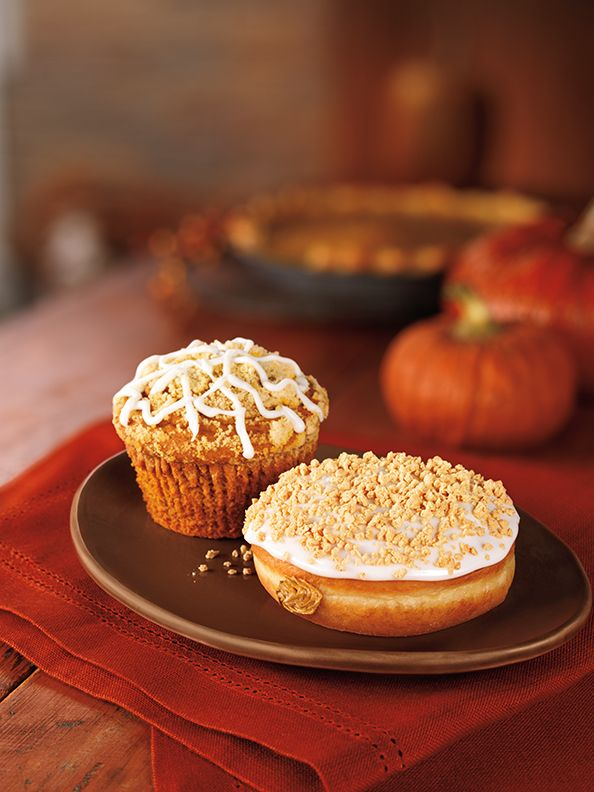 Pumpkin muffin and donut