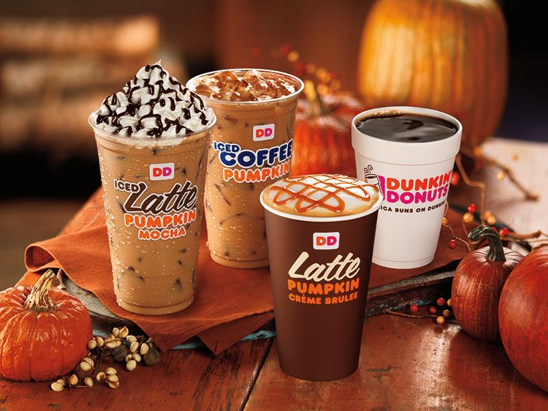 NEW PUMPKIN CRÈME BRULEE COFFEE AND LATTES  JOIN DUNKIN' DONUTS' FALL LINEUP IN SEPTEMBER