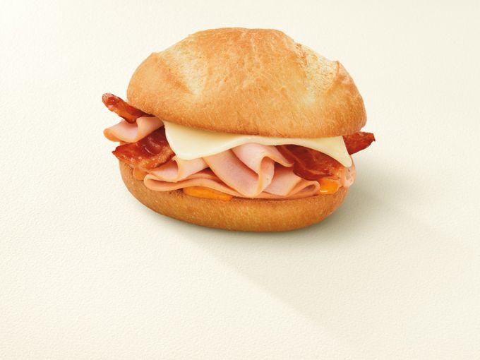 Turkey Cheddar and Bacon Bakery Sandwich