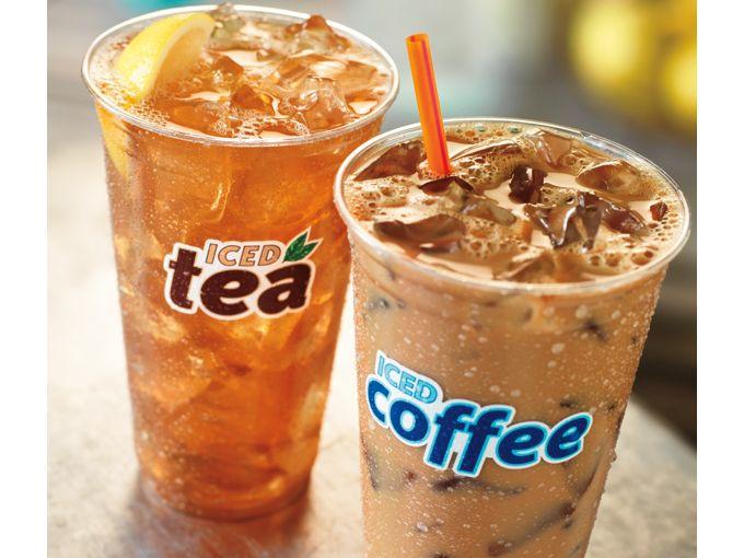 Iced Coffee or Iced Tea