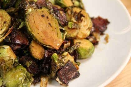 Dunksgiving Side Dish: Dark Roast Coffee Marinated Brussels Sprouts