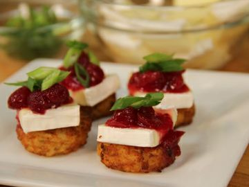 Cranberry Brie Hash Brown 1