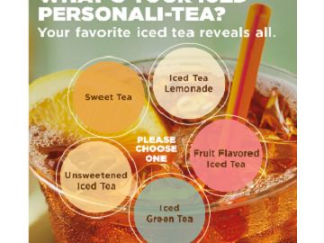 What's Your Iced Personali-TEA? Take The Quiz and Share For a Chance to Win Free DD Iced Tea For a Year!