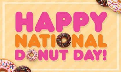 Happy National Donut Day! Celebrate with us, Dunkin' style!