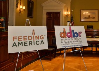 Dunkin' Donuts & Baskin-Robbins Community Foundation Partners with Feeding America