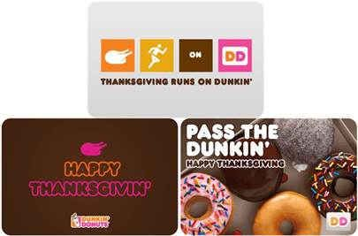Dunkin' Donuts Gift IDDeas For Thanksgiving