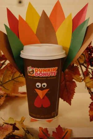 Crafting Runs on Dunkin': DIY Thanksgiving Turkey Latte Cup