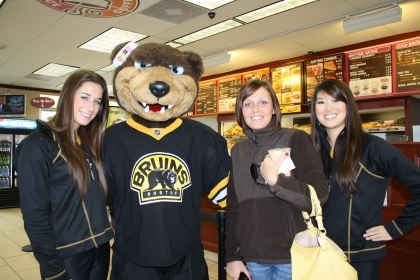 "April 12, 2011: Dunkin' Donuts Celebrates Extension of ""Caught Cold"" Promotion with Boston's Biggest Ticket Giveaway"