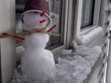 A Snowman in the Drive-Thru? IntroDDucing Joey the Snowman…