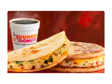 Eat Smarter in 2011: Dunkin' Donuts Unveils Two New Varieties of Egg White Wake-Up Wraps