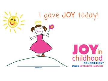 Help Us Bring Joy This Month through the Joy in Childhood Foundation℠ Community Cups® Program