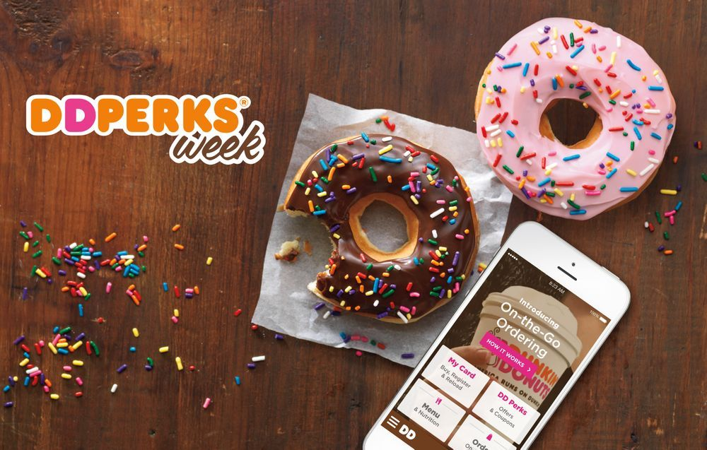 DD Perks Week is here! Stop by Dunkin' for Daily Deals and Prizes All Week Long
