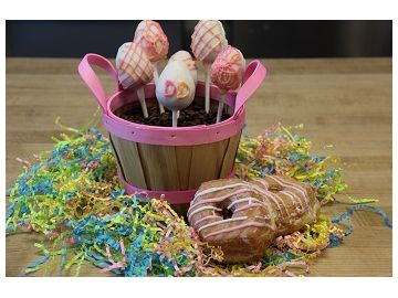 Culinary Corner: Easter Cake Pops Featuring the Strawberry Shortcake Croissant Donut