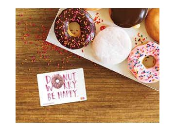 Brighten up your day with a DoNUT Worry, Be Happy DD Card!
