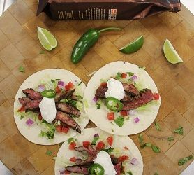 Cinco de Mayo Dunkin' Style: Steak Tacos with Dark Roast Coffee Rub