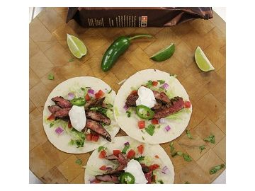 Cinco de Mayo Dunkin' Style: Steak Tacos with Dark Roast Coffee Rub