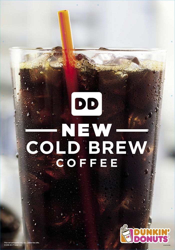 Dunkin Donuts Adds Cold Brew Coffee To Menu