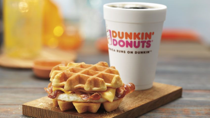It's a Wonderful National Waffle Day as Dunkin' Donuts Unveils New Belgian Waffle Breakfast Sandwich