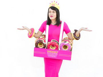 DIY Donut King & Queen Halloween Costume from Aww, Sam