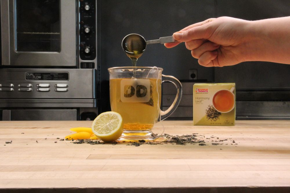 Bourbon Peach Green Tea Toddy