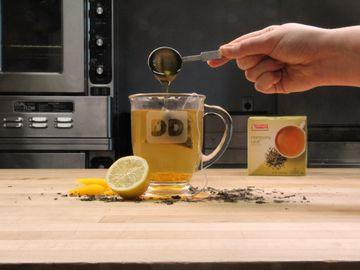 Bourbon Peach Green Tea Toddy