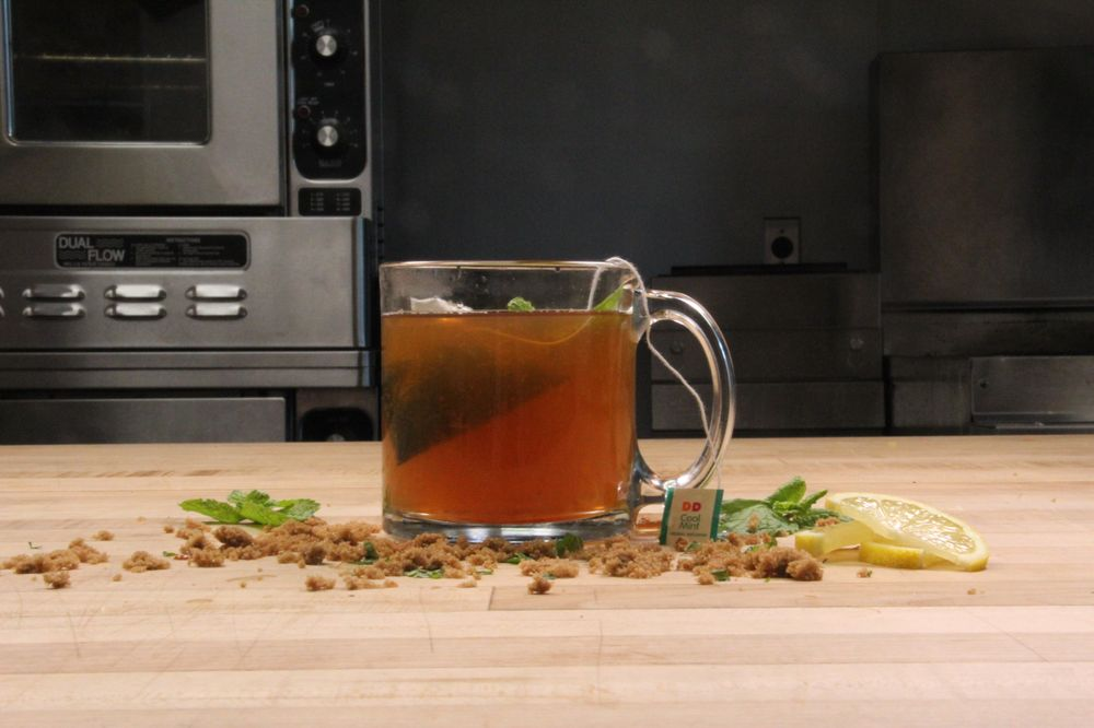 Brown Sugar Mint Tea Toddy