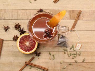 Blood Orange Spiced Tea Toddy