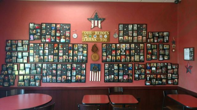 How One Local Dunkin' Created a Wall of Heroes