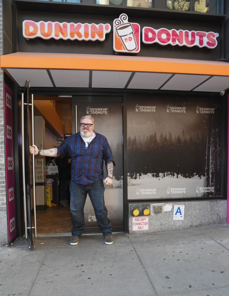 Kristian Nairn, aka Hodor from Game of Thrones Welcomes Winter with Dunkin'