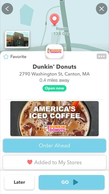 "From Car to Coffee Quicker Than Ever: Dunkin' Donuts is First Brand to Launch Waze's ""Order Ahead"" Feature"