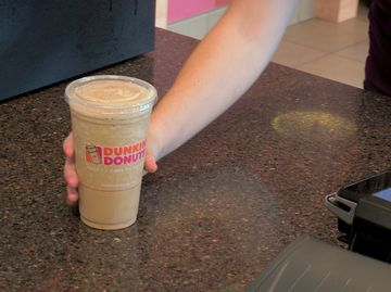 Frozen Dunkin' Coffee B-Roll Video