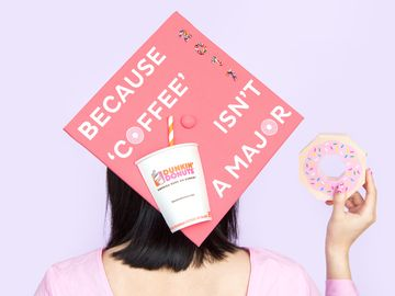 How To Decorate Your Dunkin'-inspired Graduation Cap