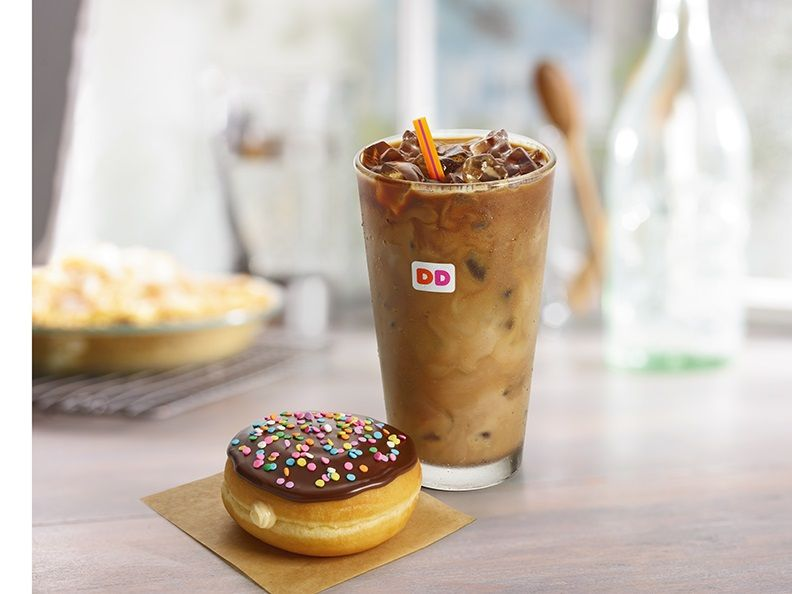 Iced Coffee and Vanilla Cake Batter Donut